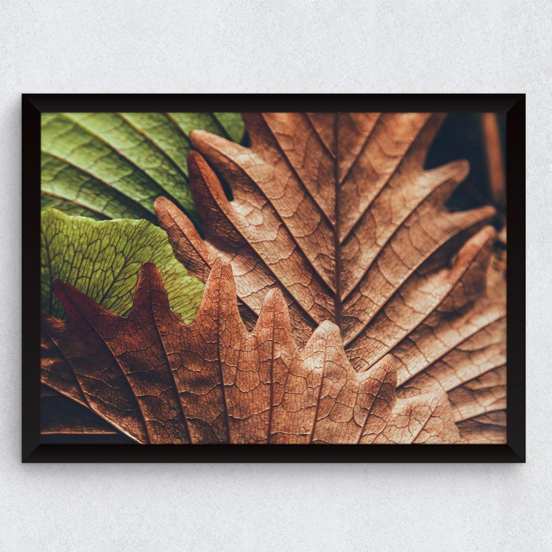 Quadro Decorativo Folhas de Outono
