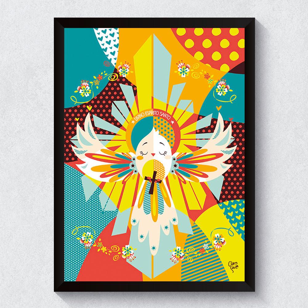 Quadro Decorativo Divino Espírito Santo bemColar  ~ Ver Quadros Para Quarto
