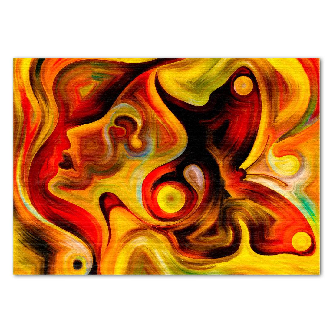 Quadro Decorativo Borboleta Abstrata em canvas