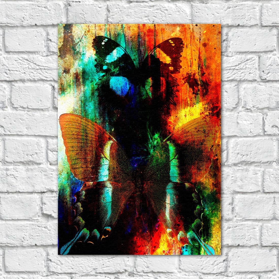 Quadro Decorativo Abstração Borboletas - Em Canvas