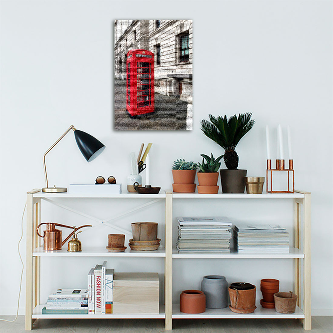 Quadro Decorativo Cabine Telefônica ( Em Canvas )