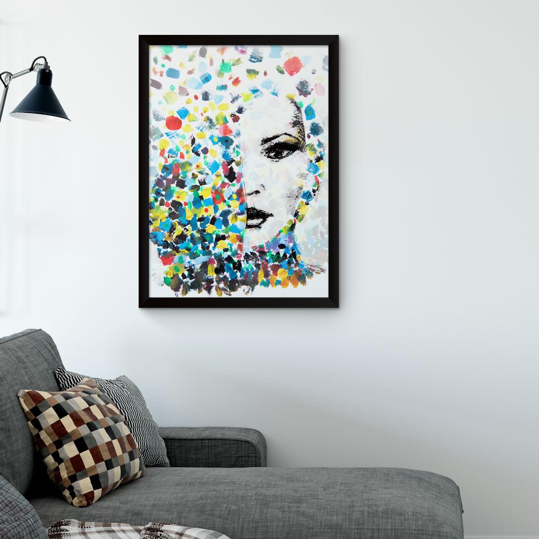 Quadro Decorativo Mulher Aquarela Abstrata