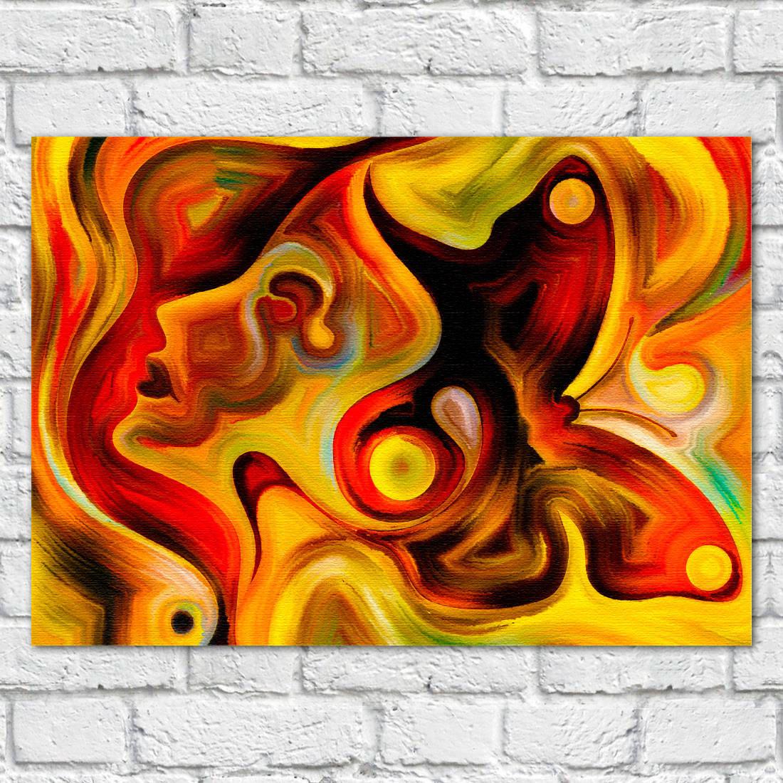Quadro Decorativo Mulher Abstrata - Em Canvas