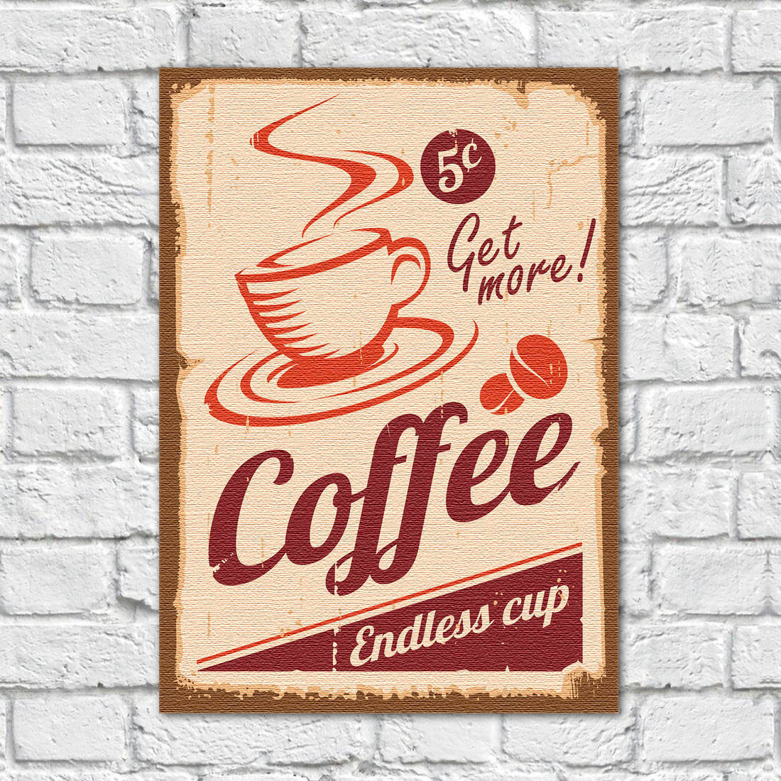 Quadro Decorativo Vintage Coffee