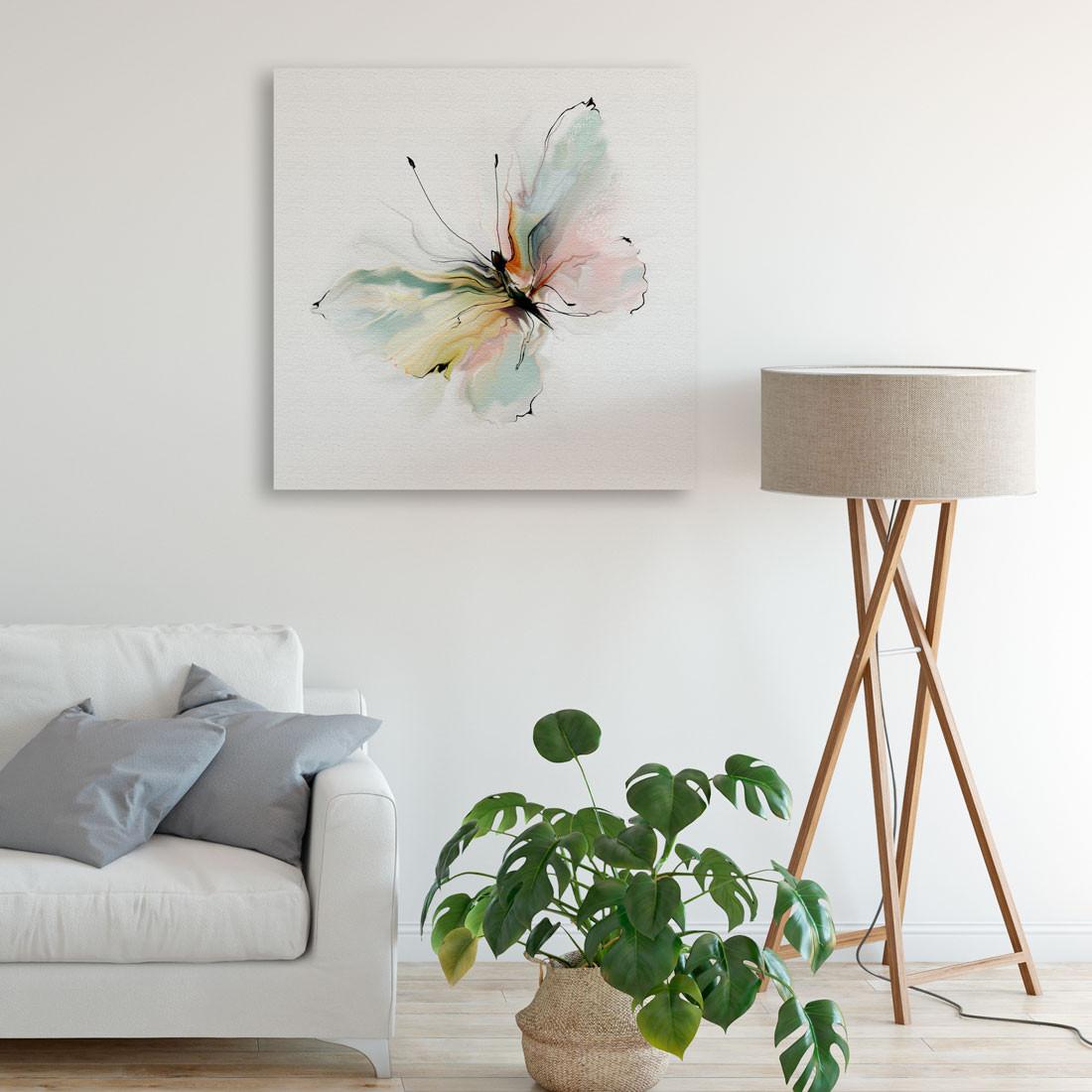Quadro Decorativo Borboleta Pintura Aquarela