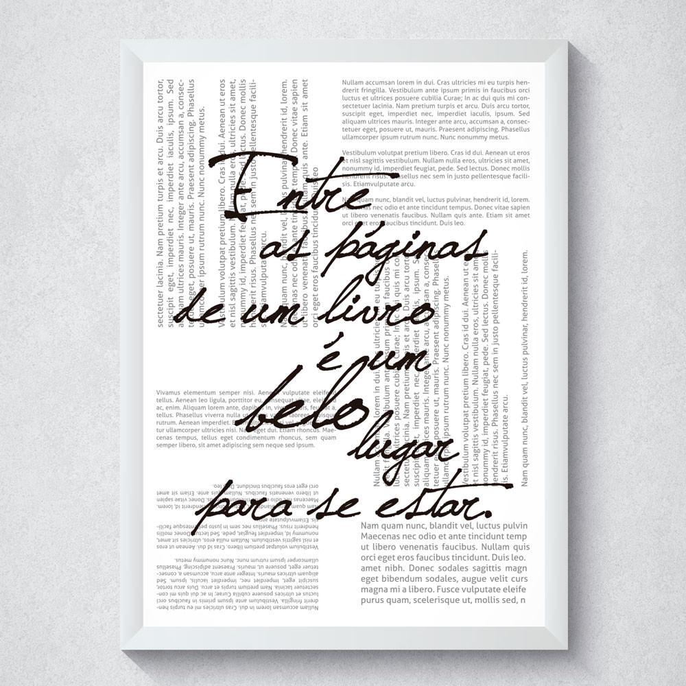 Quadro Decorativo Entre as Páginas de um Livro