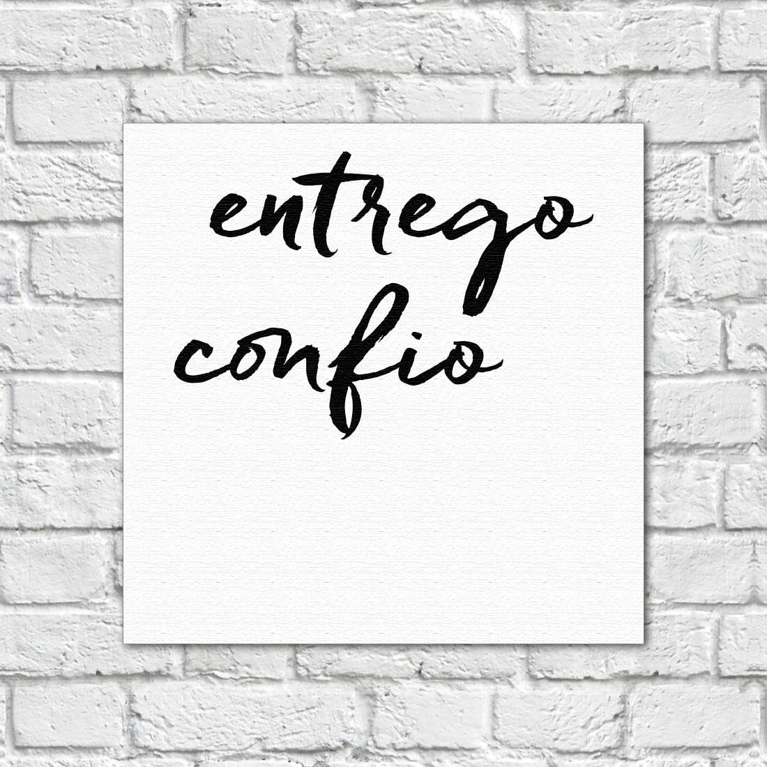 """Quadro Decorativos """"Entrego e confio"""" - Em Canvas"""