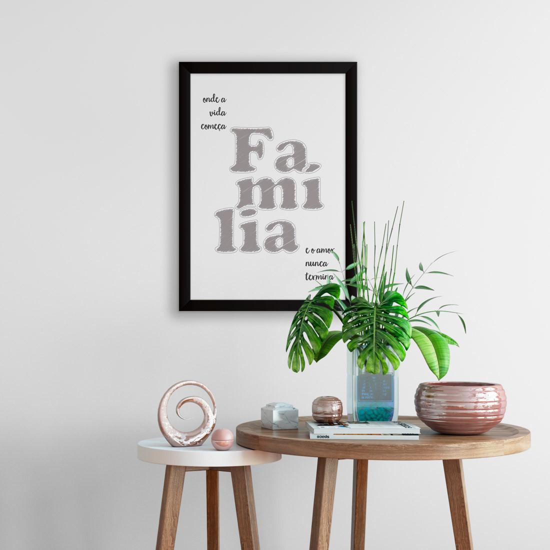 Quadro Decorativo Família