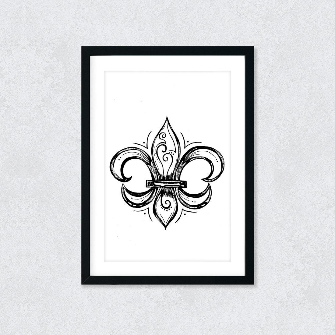 Quadro Decorativo Flor de Lis