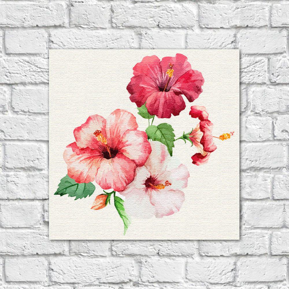 Quadro Decorativo Flor Hibisco