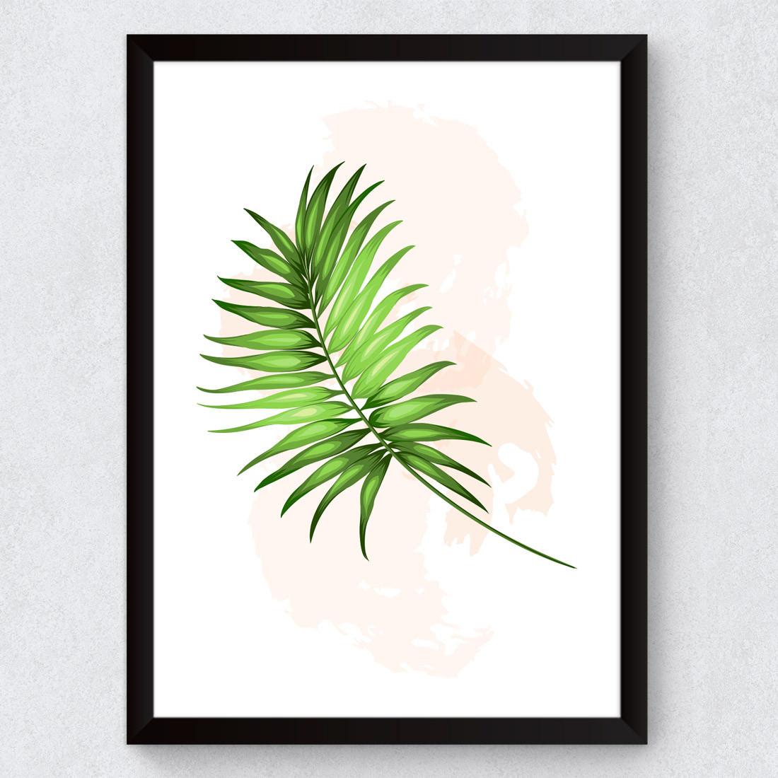 Quadro Decorativo Folhagem Tropical