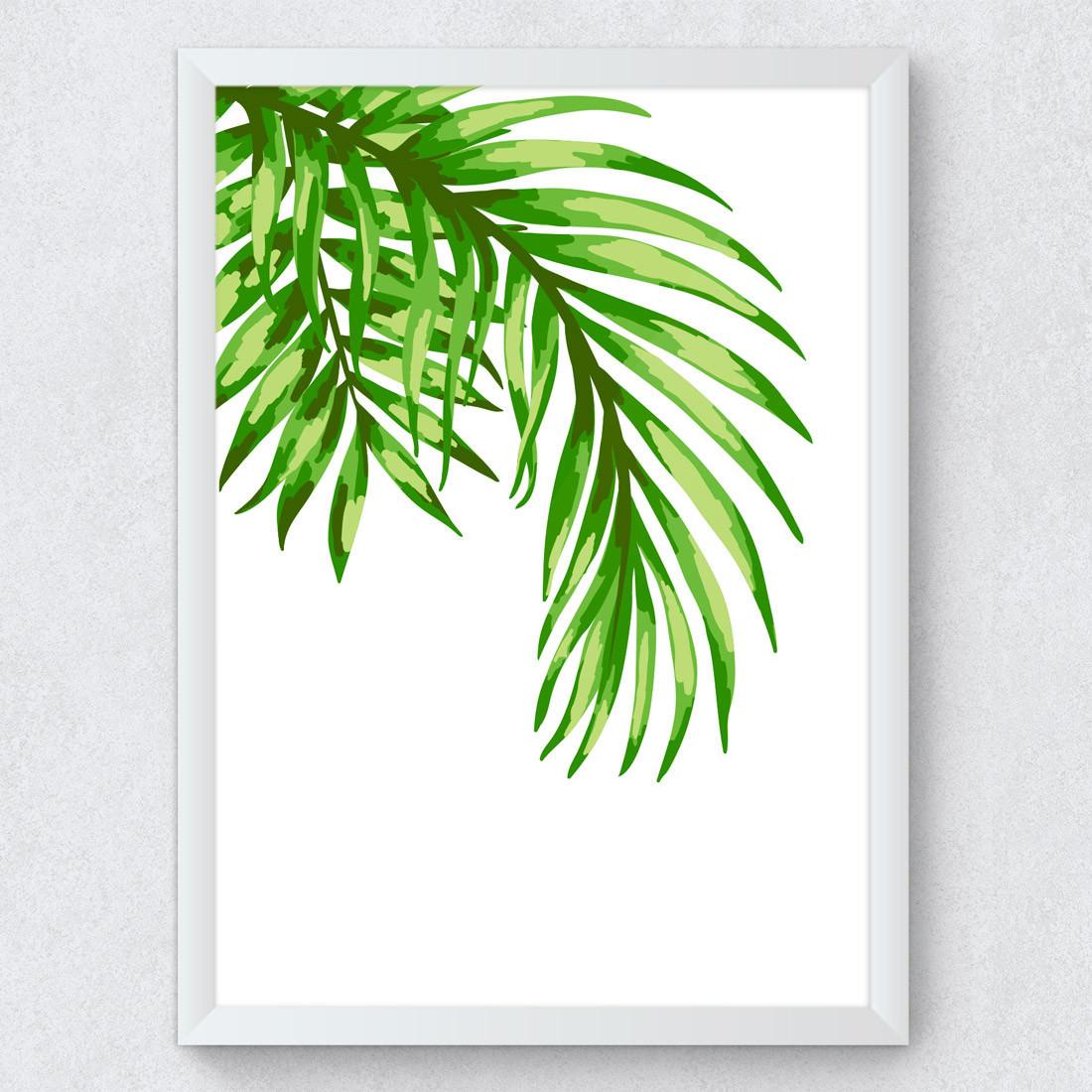 Quadro Decorativo Folhas de Coqueiro