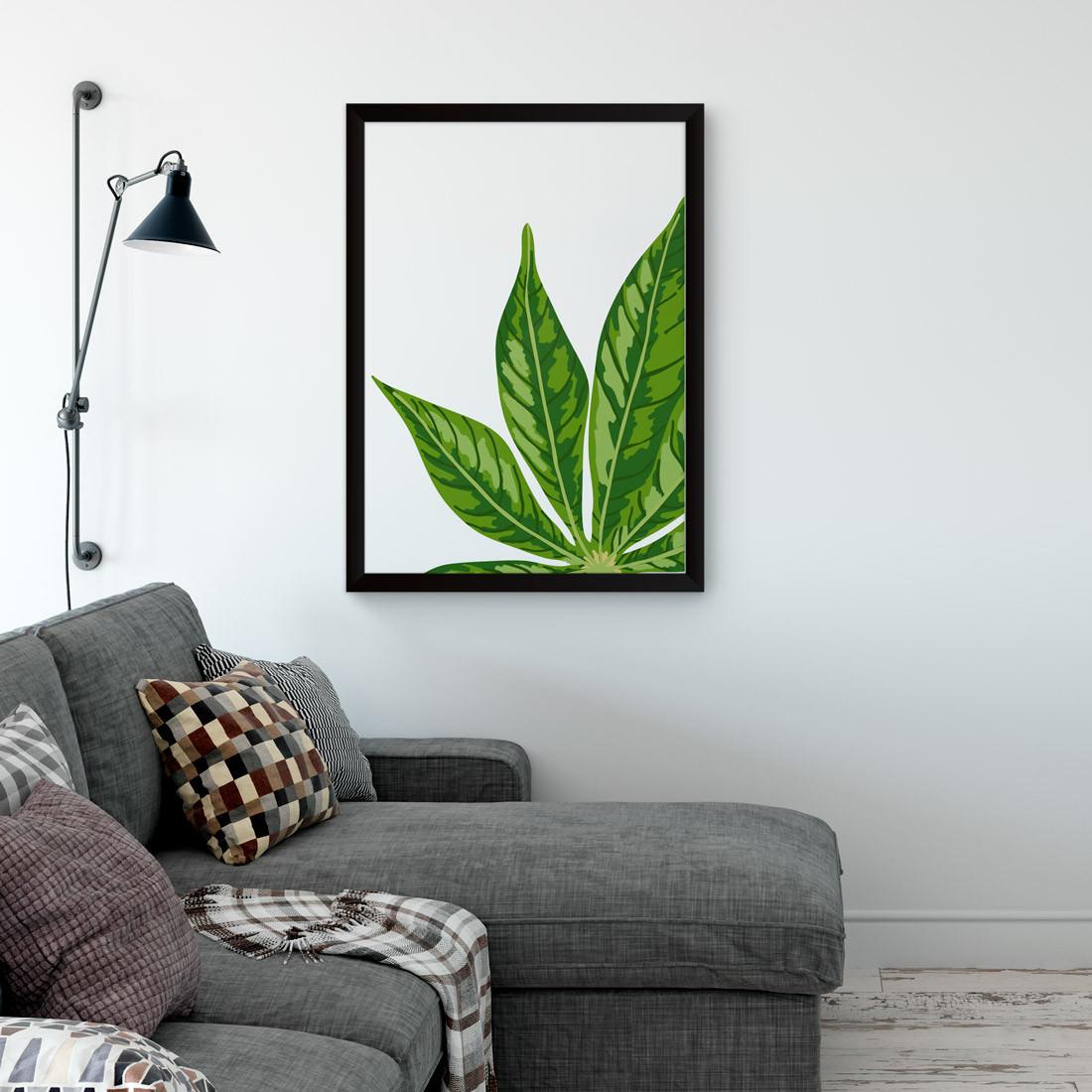 Quadro Decorativo Folha Tropical Palmeira