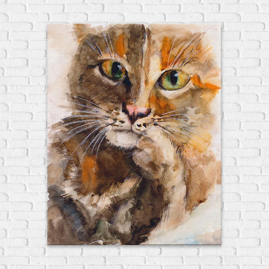 Quadro Decorativo Pintura Gato