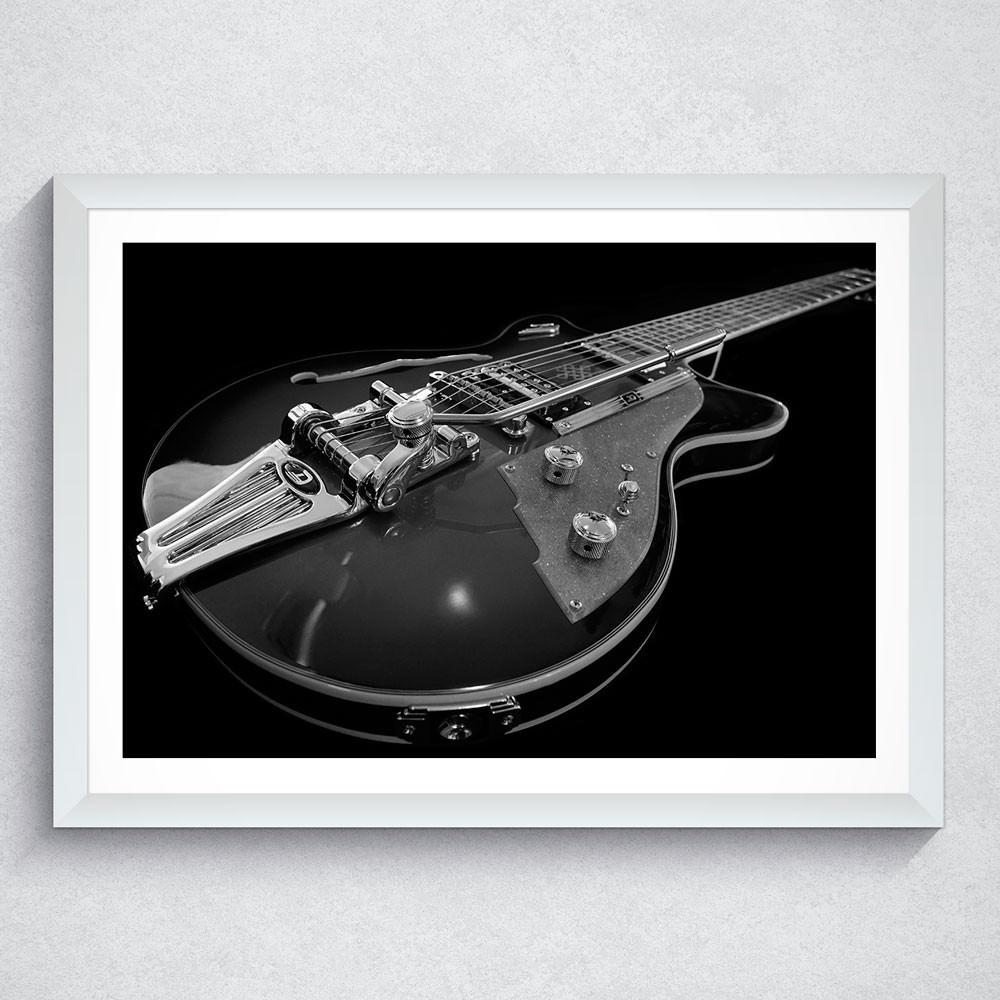 Quadro Decorativo Guitarra (Preto e Branco)