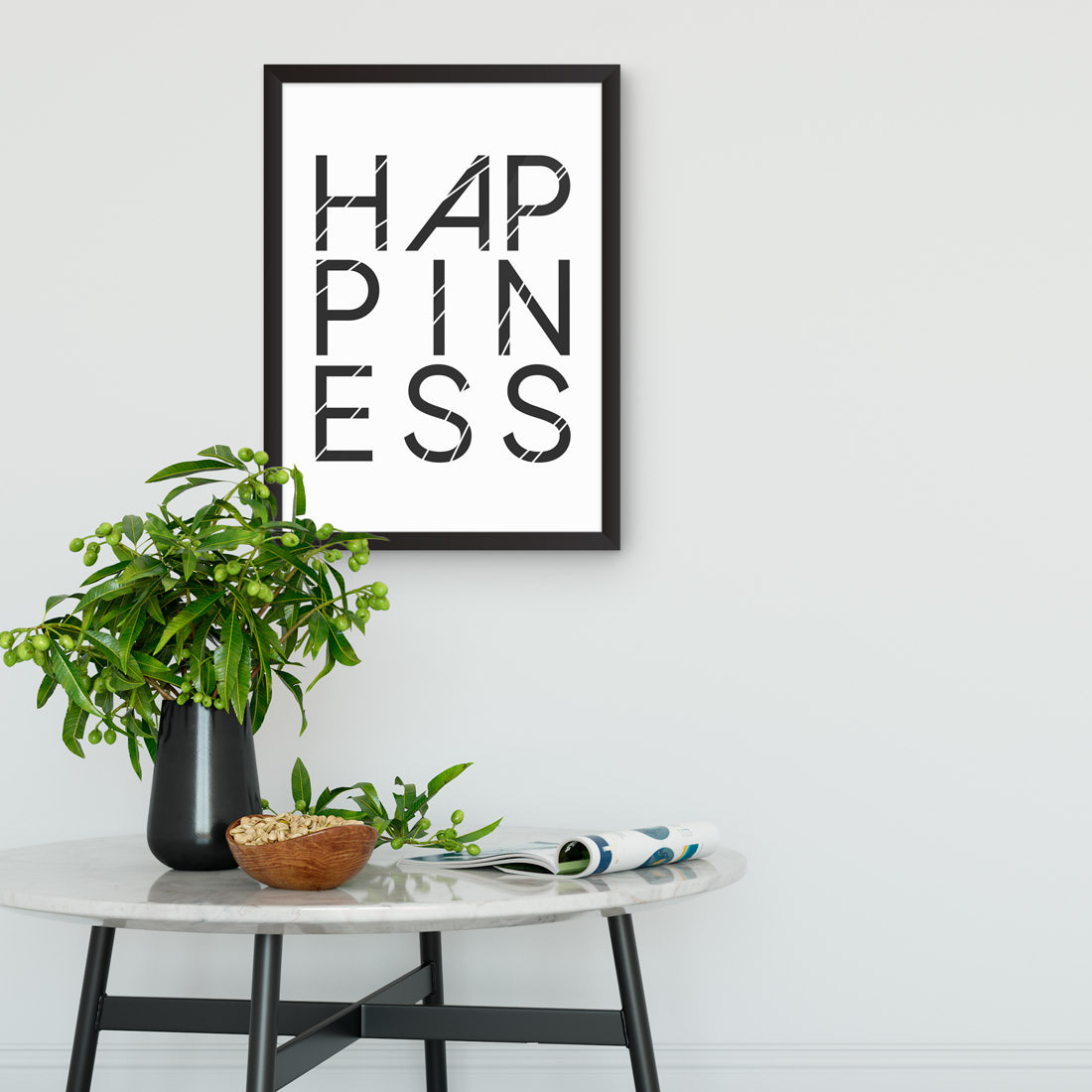 Quadro Decorativo Happiness
