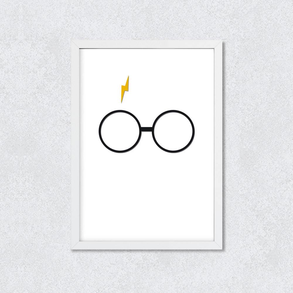 Quadro Decorativo Harry Potter Minimalista
