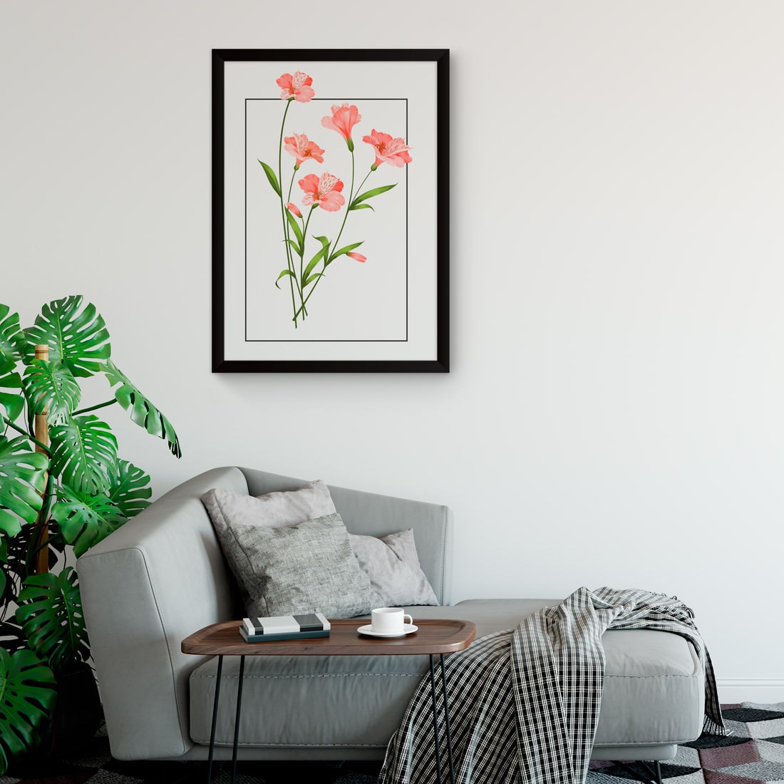 Quadro Decorativo Hibiscos Tropicais