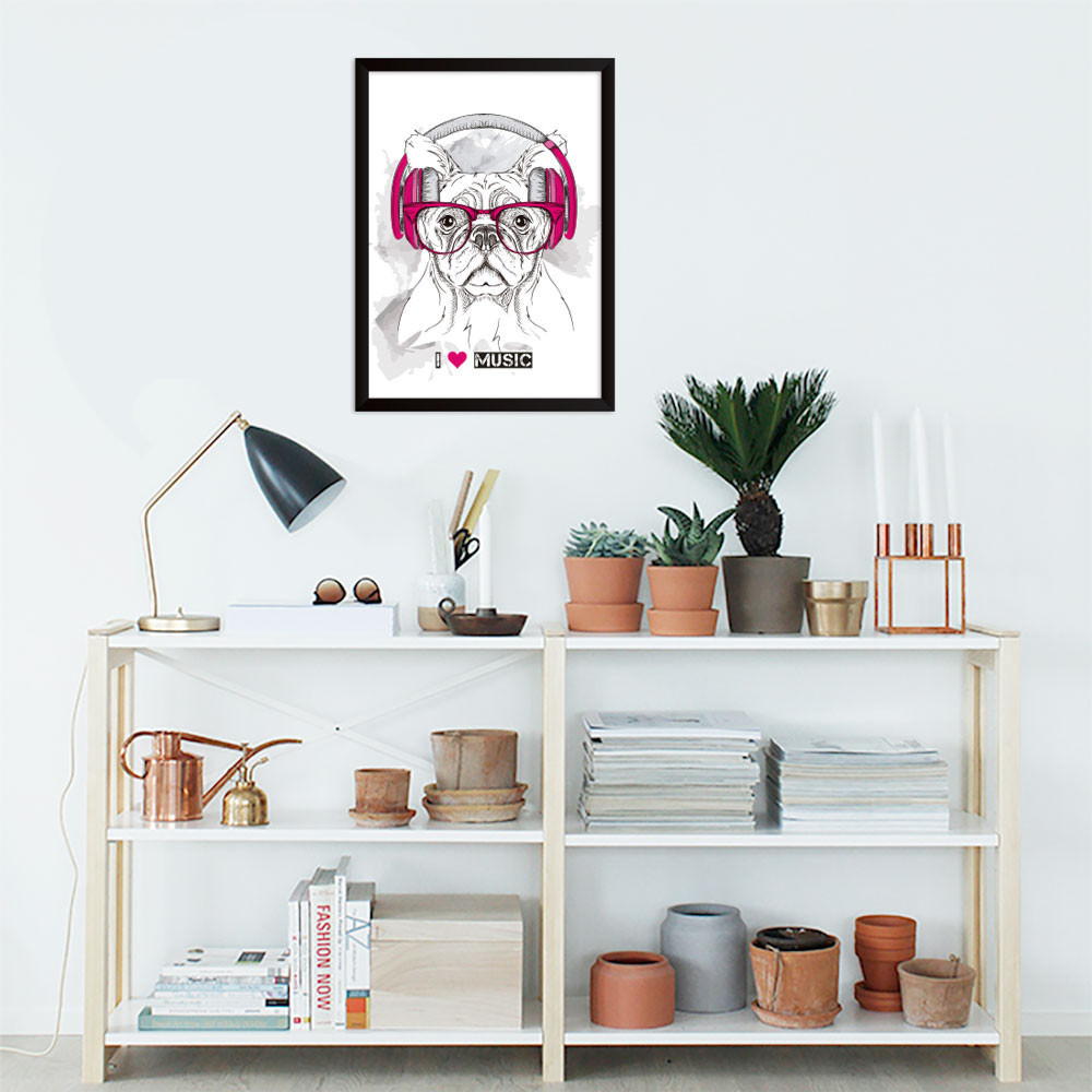 Quadro Decorativo I Love Music