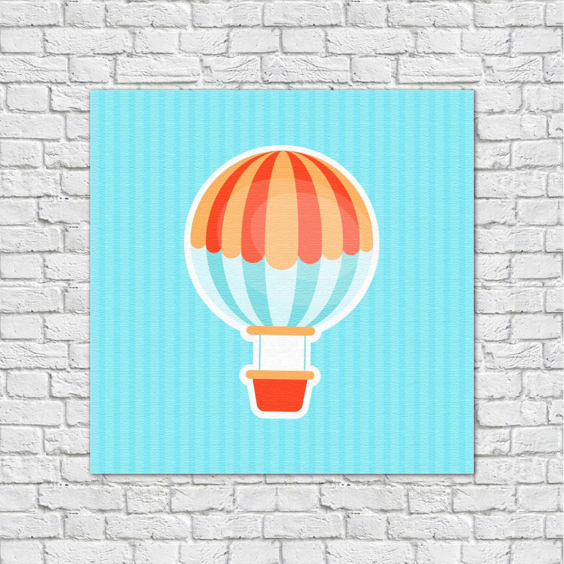Adesivo Emagrecedor Funciona ~ Conjunto de Quadros Decorativos Infantis Bal u00e3o, Pipa e Arco u00ecris bemColar Adesivos De Parede