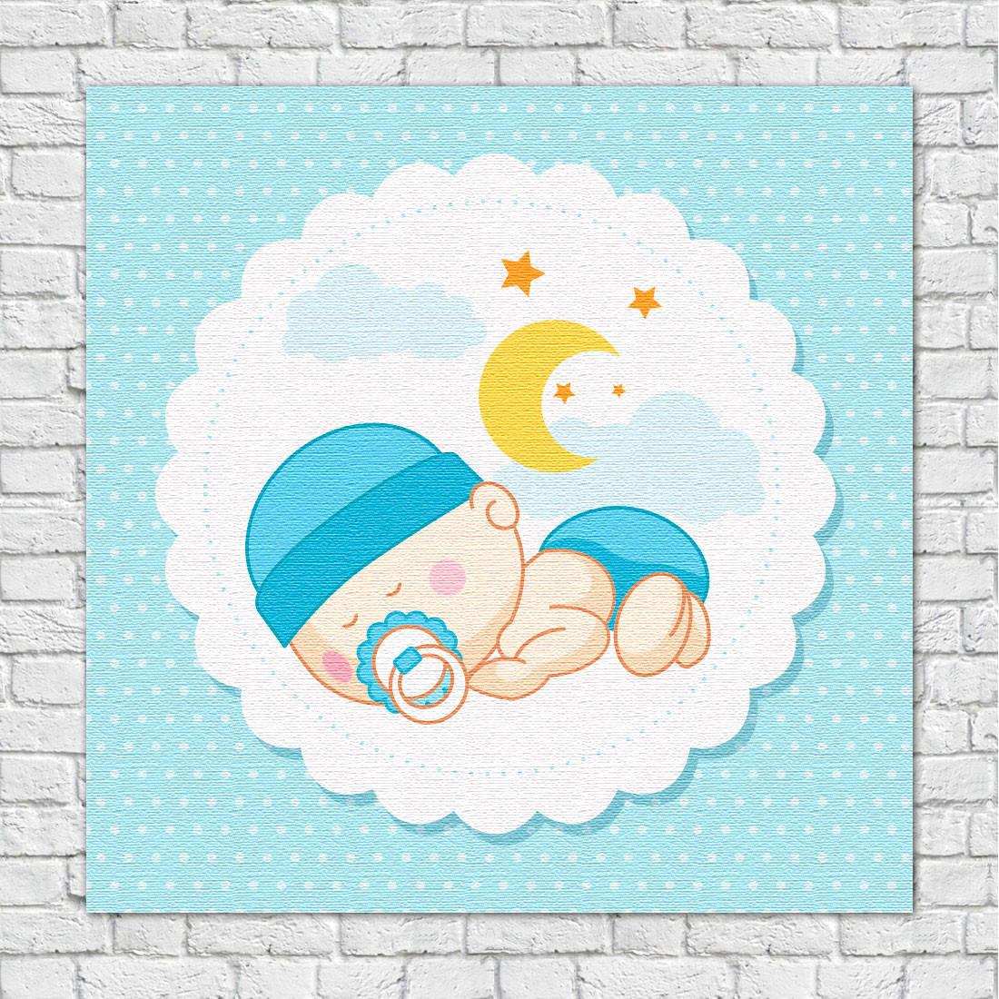 Quadro Decorativo Infantil Bebê dorminhoco