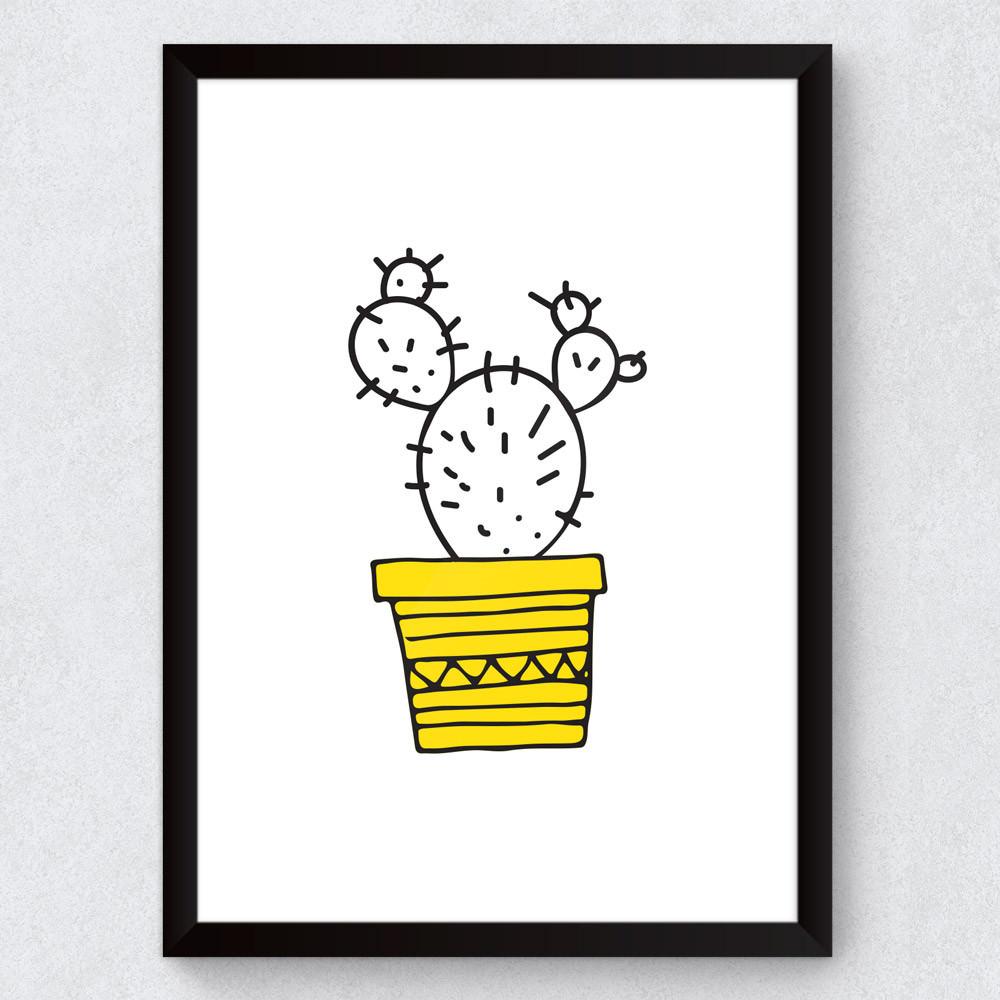 Quadro Decorativo Infantil Cacto