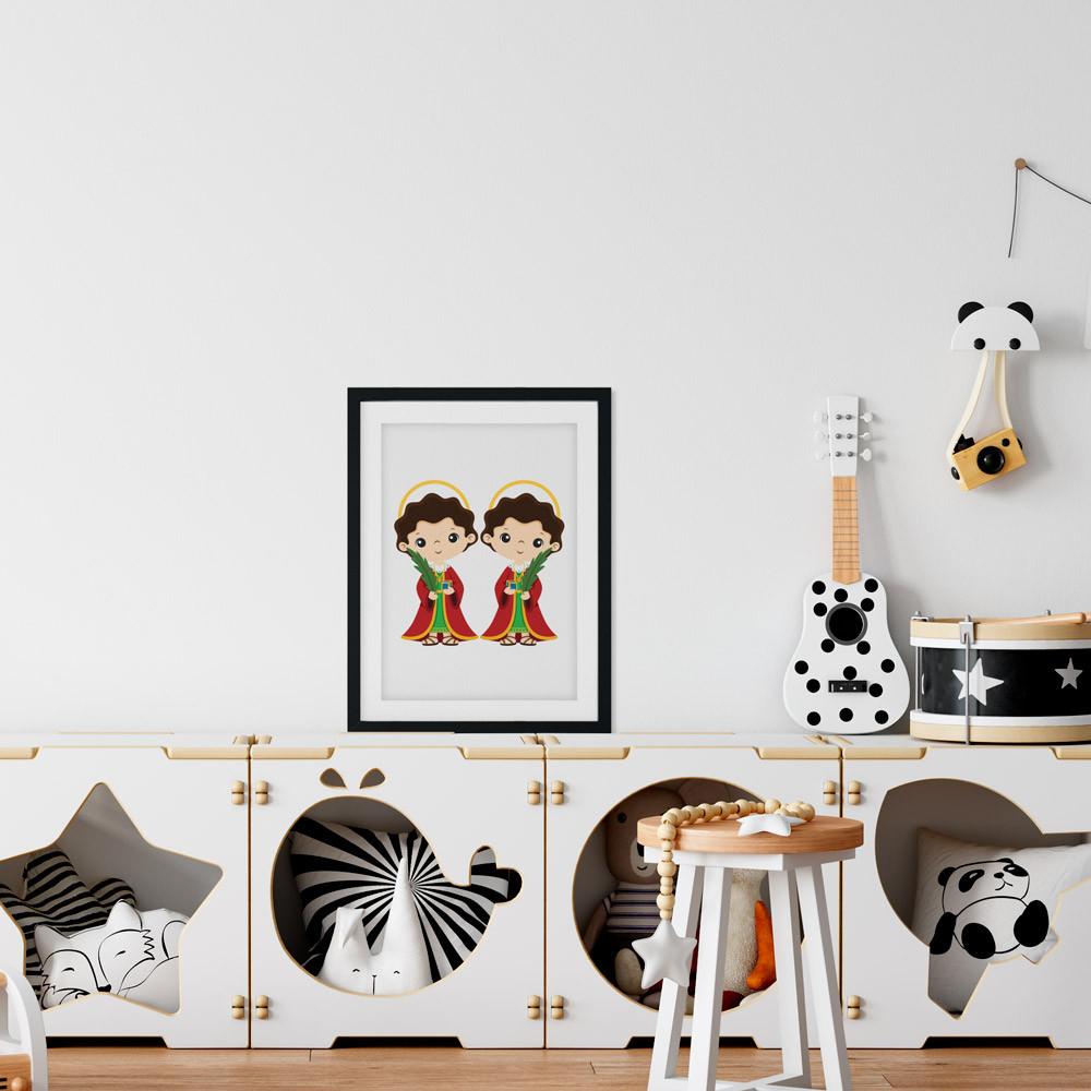 Quadro Decorativo Cosme e Damião