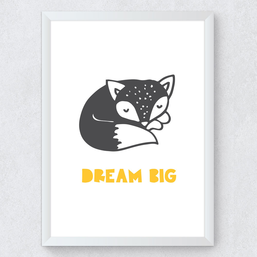 Quadro Decorativo Infantil Dream Big