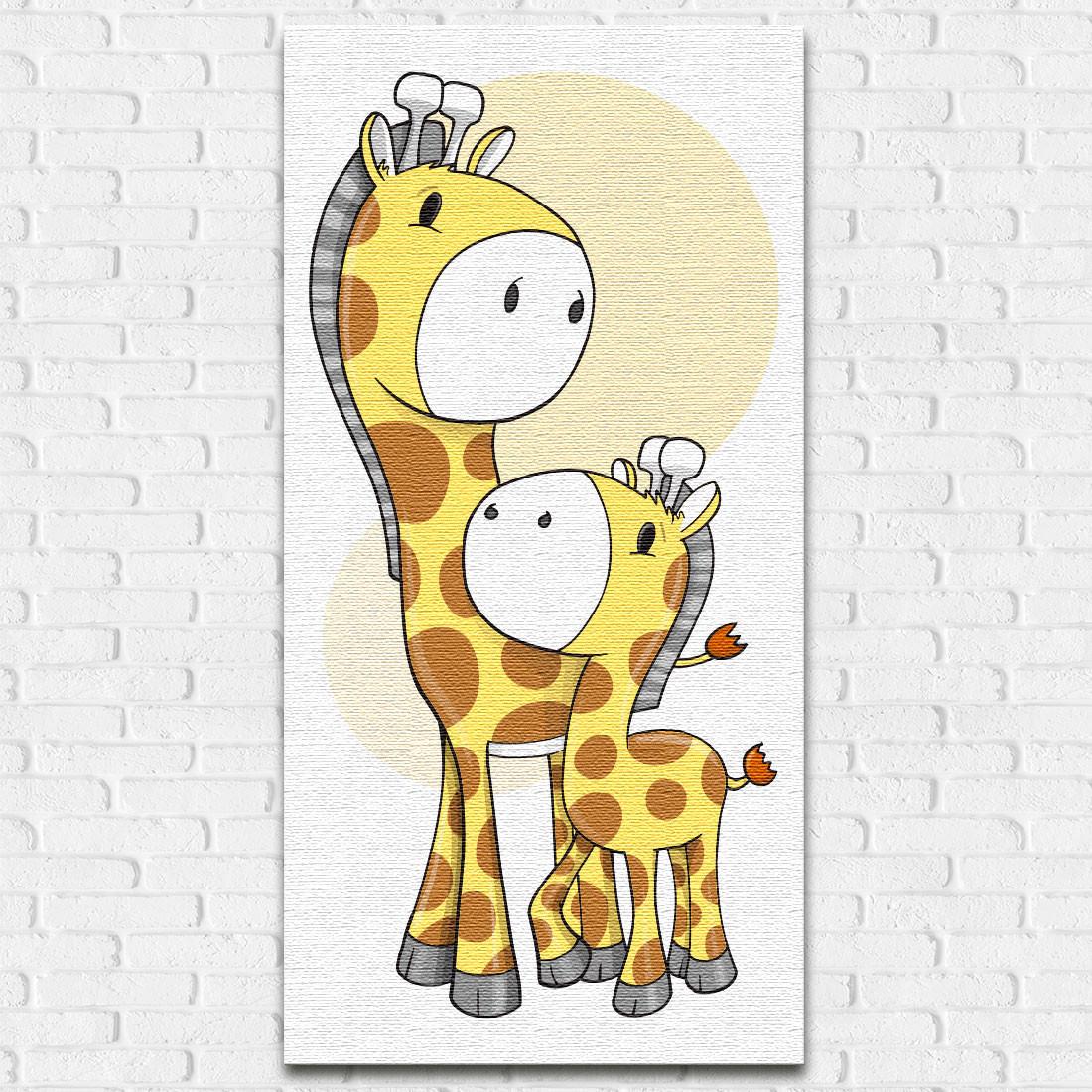 Quadro Decorativo Infantil Girafa Bebê - Em Canvas