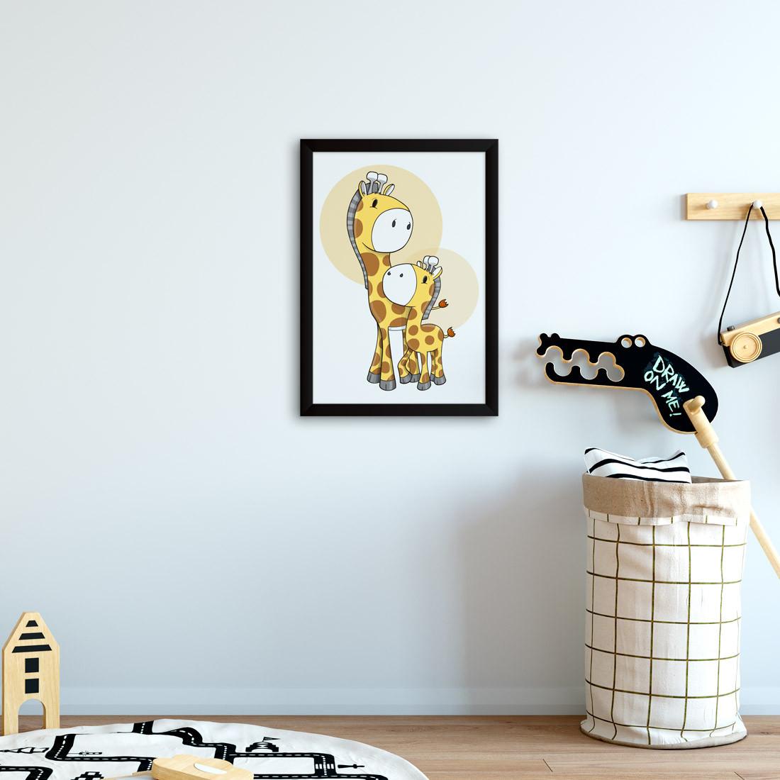 Quadro Decorativo Infantil Girafa Bebê