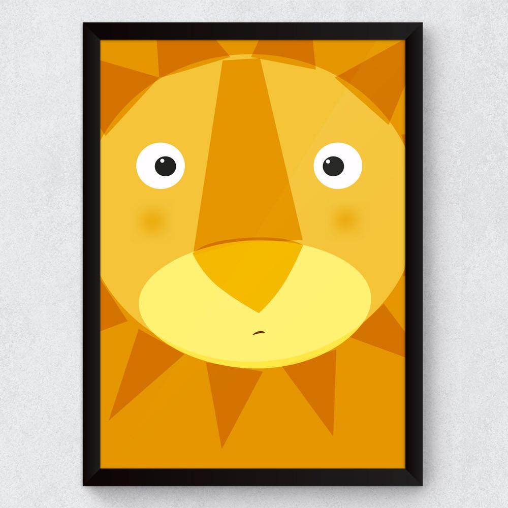 Quadro Decorativo Infantil Leão