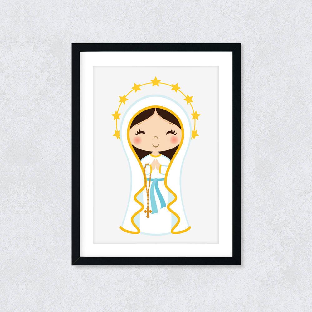 Quadro Decorativo Nossa Senhora de Lourdes