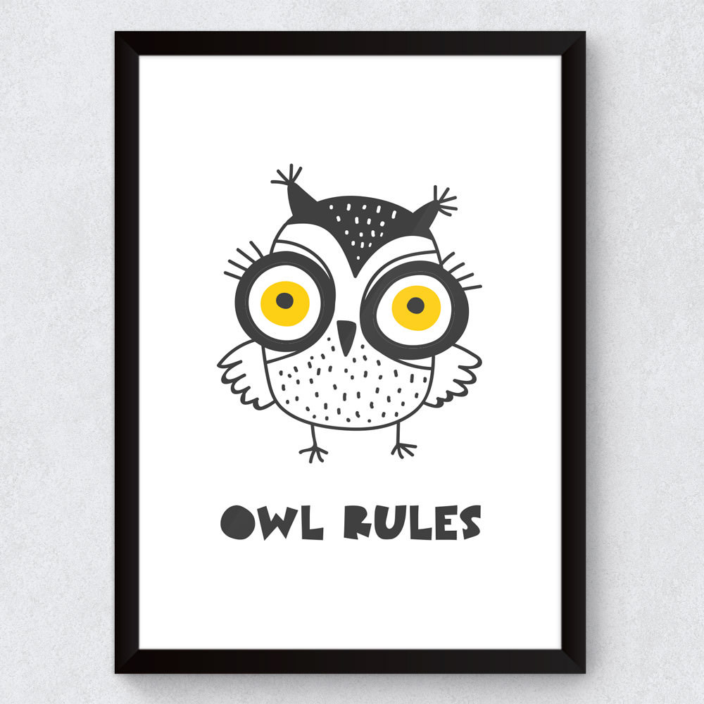 Quadro Decorativo Infantil Ow Rules