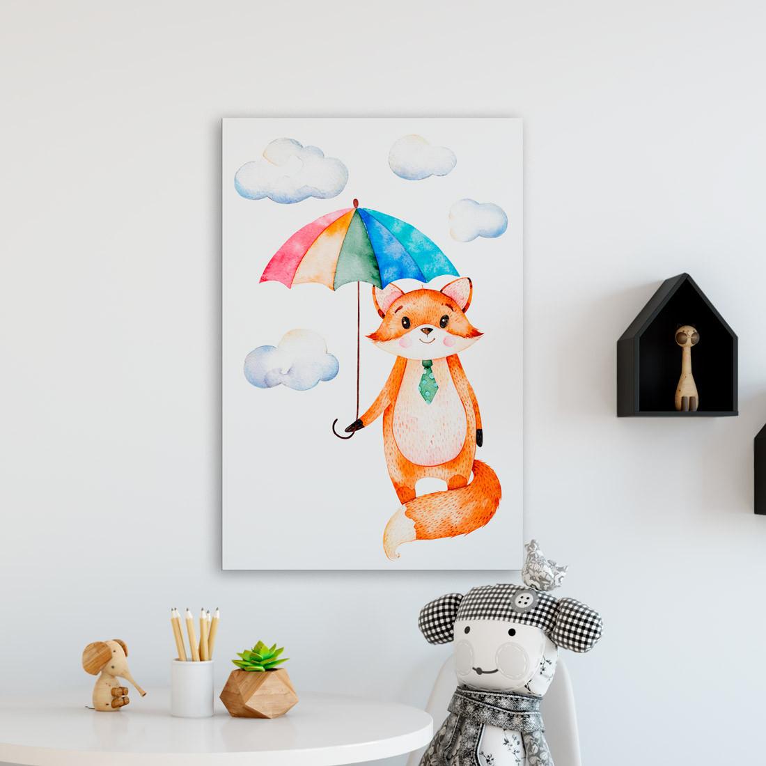 Quadro Decorativo Infantil Raposinha - Em Canvas