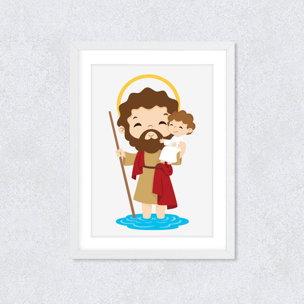 Quadro Decorativo São Cristóvão