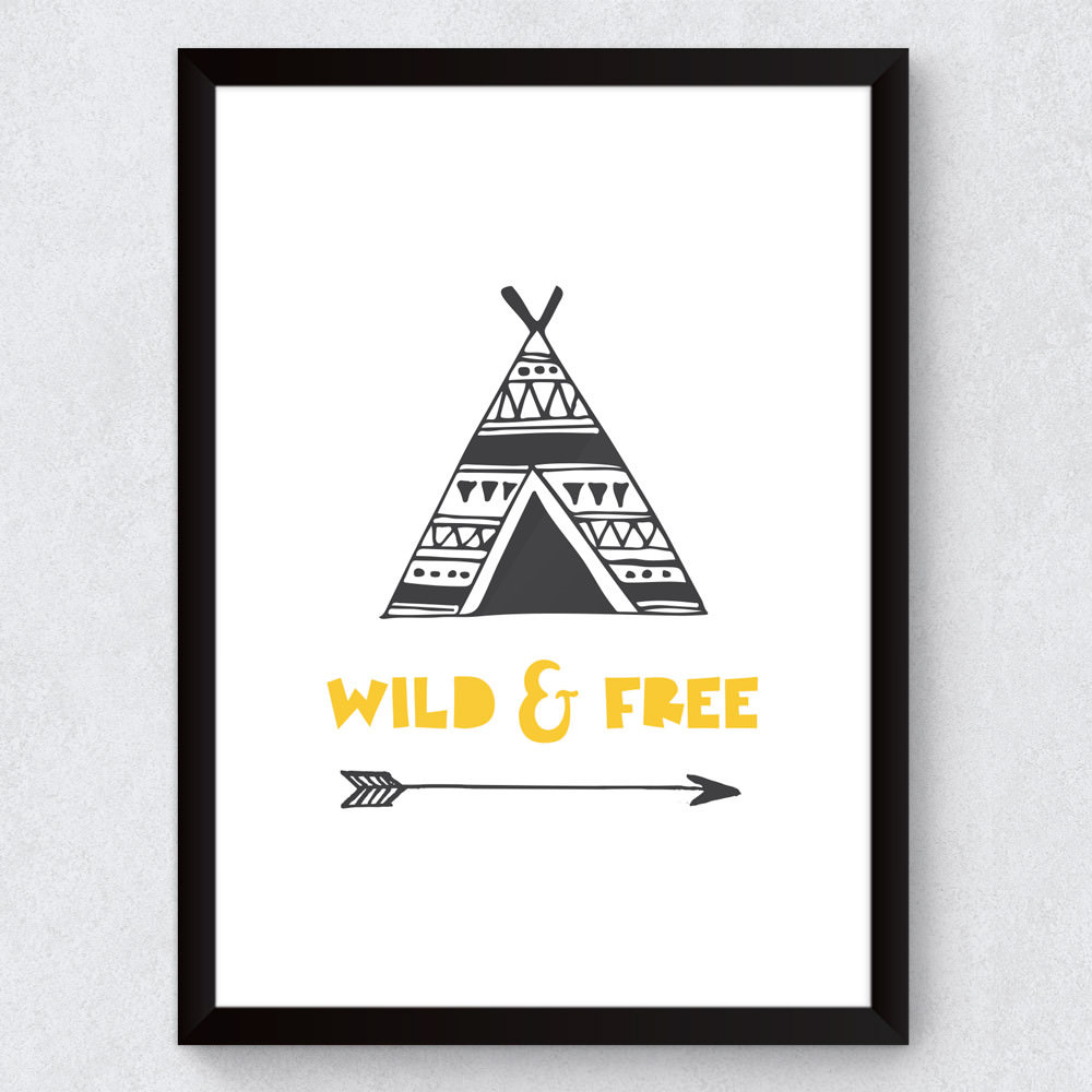 Quadro Decorativo Infantil Wild And Free