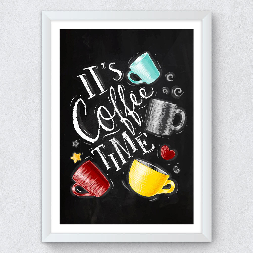 Quadro Decorativo It's Coffee Time