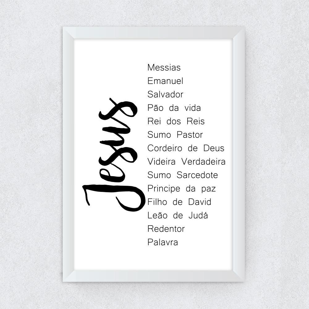Quadro Decorativo Nomes de Jesus