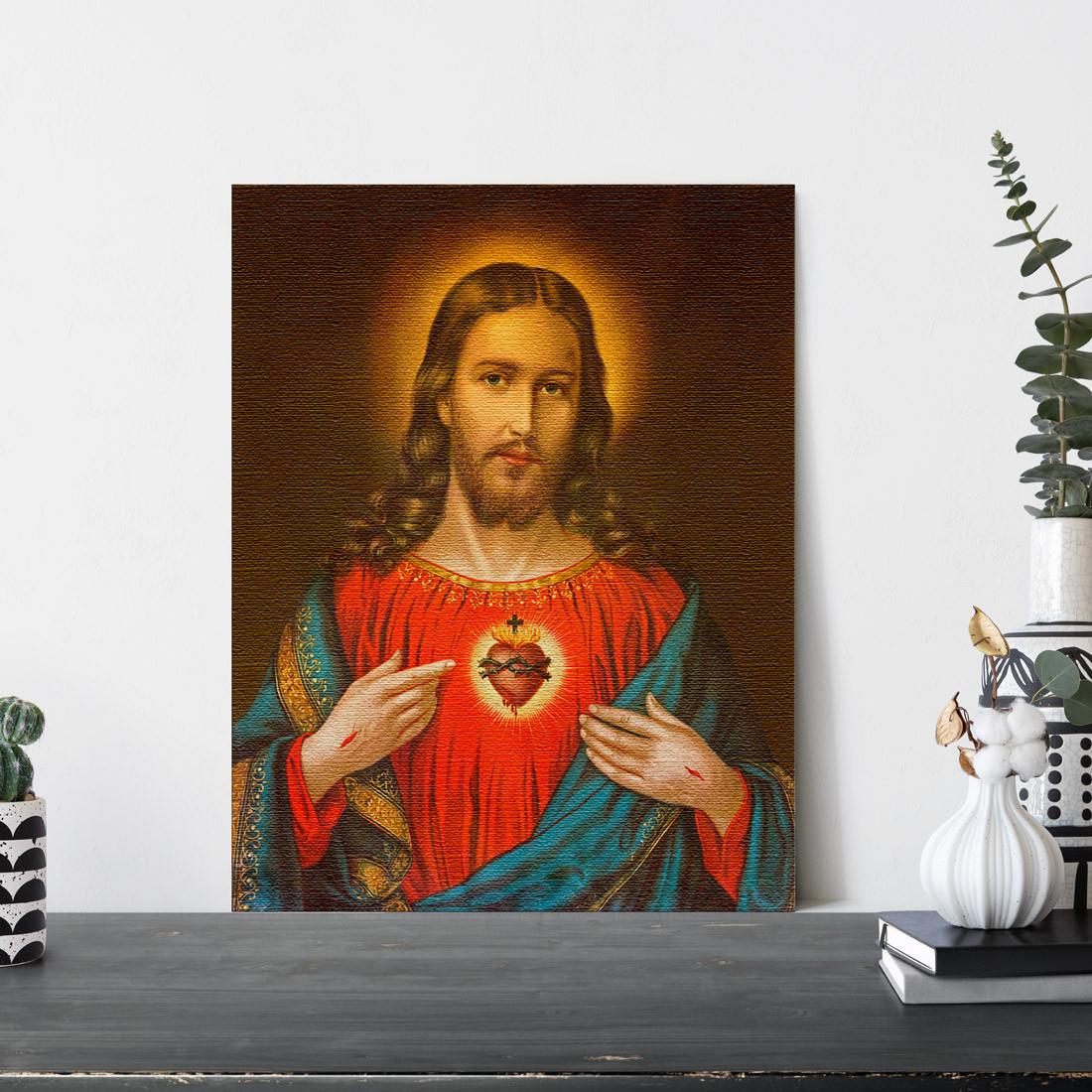 Quadro Decorativo Sagrado Coração de Jesus