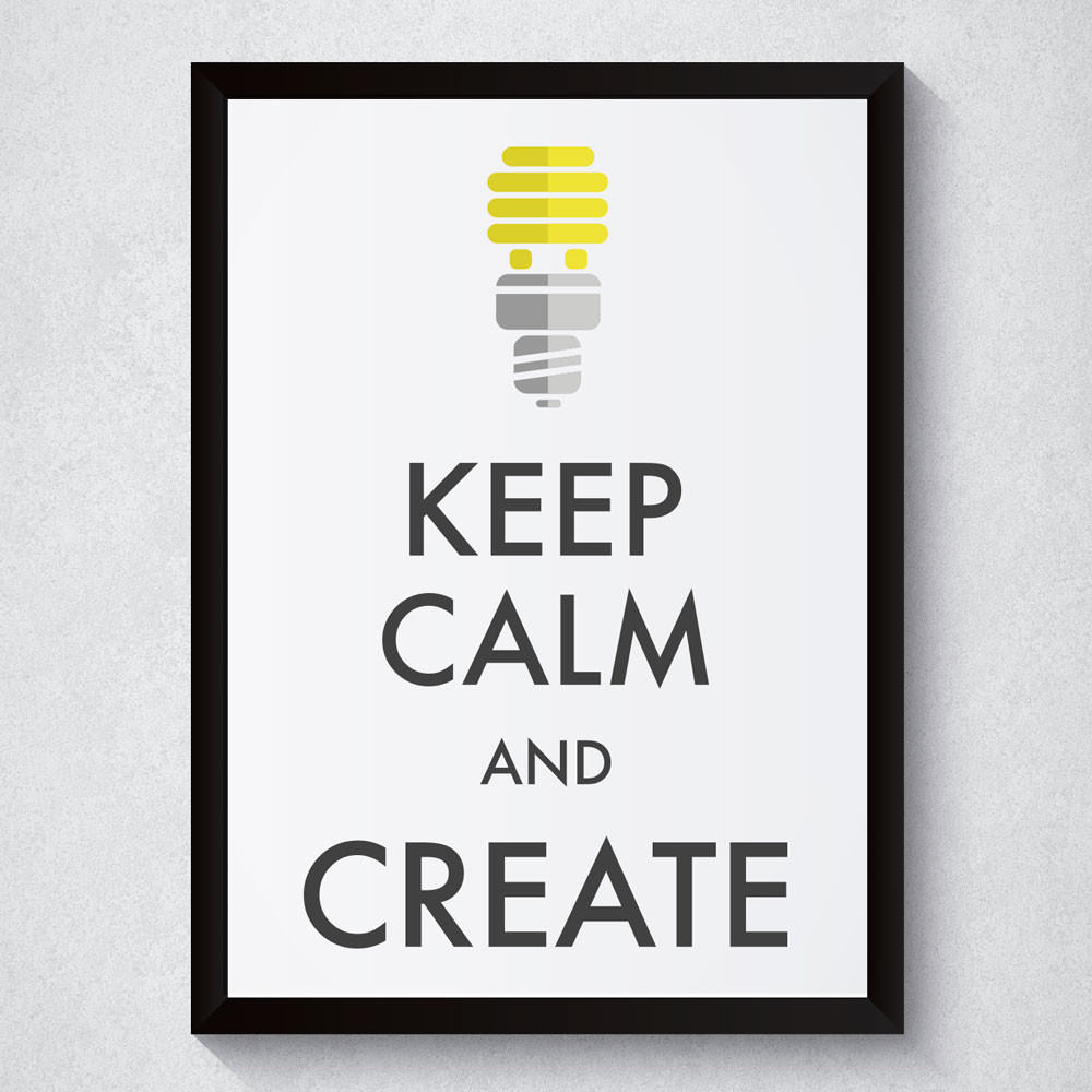 Quadro Decorativo Keep Calm And Create