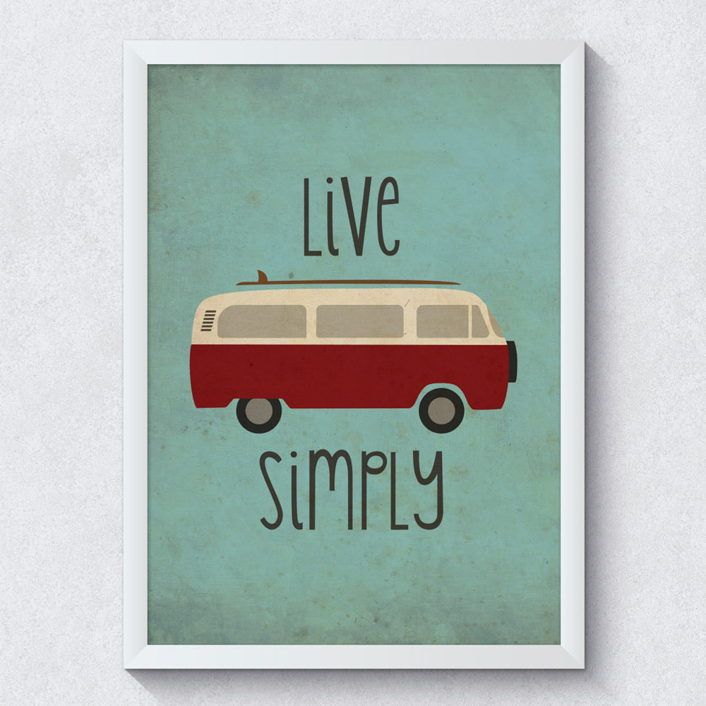 "Quadro Decorativo ""Live Simply"""