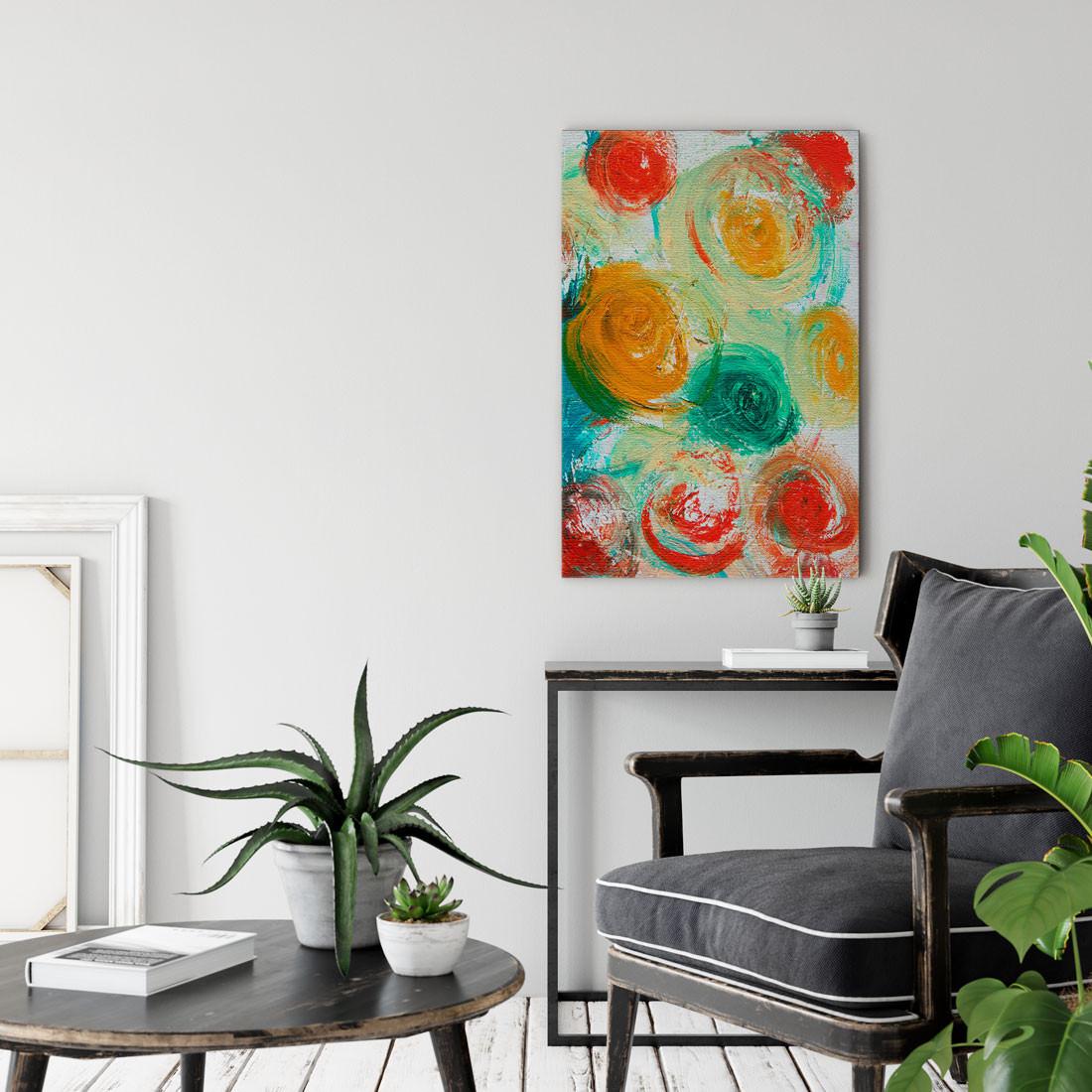 Quadro Decorativo Pintura Abstrata Bolinhas