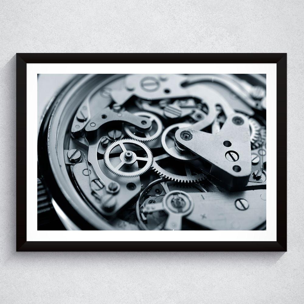 Quadro Decorativo Máquina de Relógio