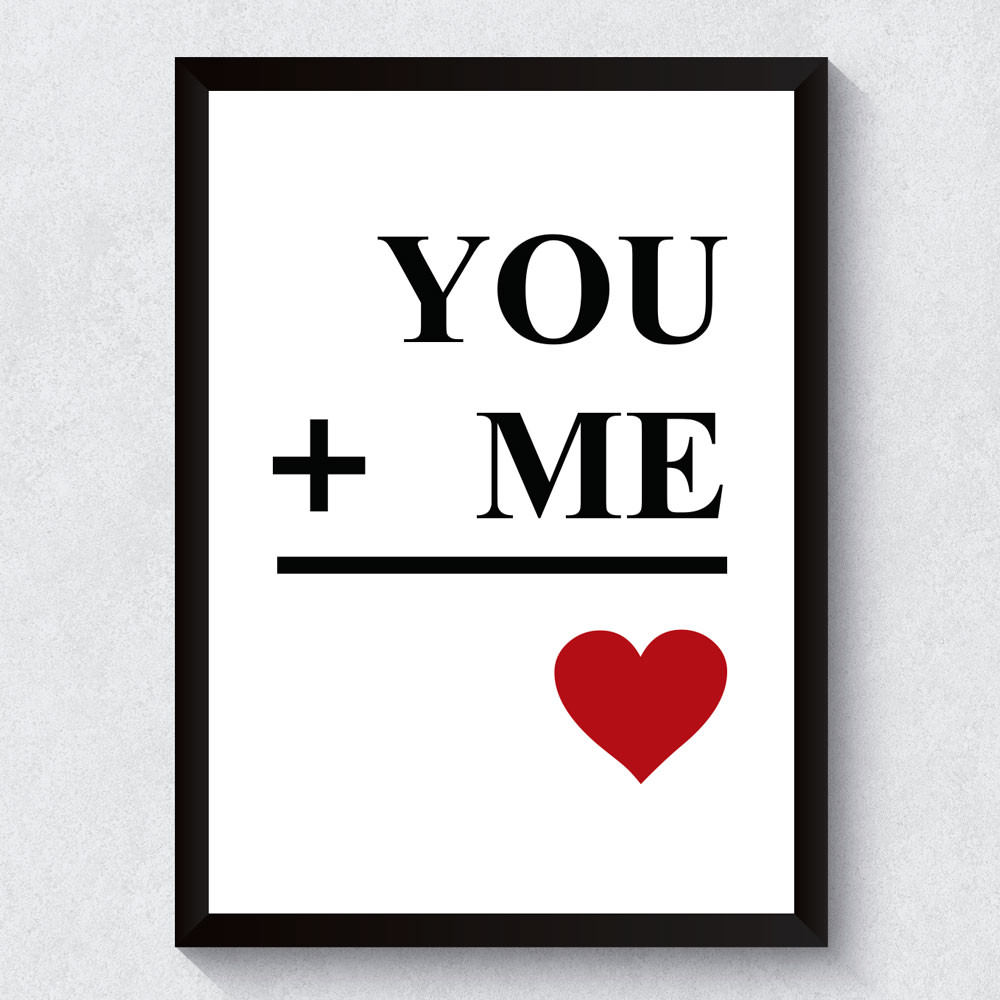 Quadro Decorativo Me + You