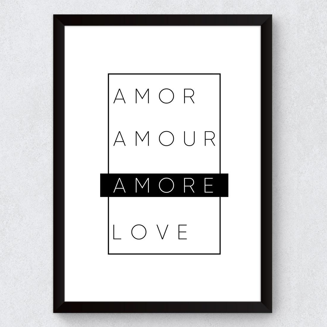 Quadro Decorativo Amore