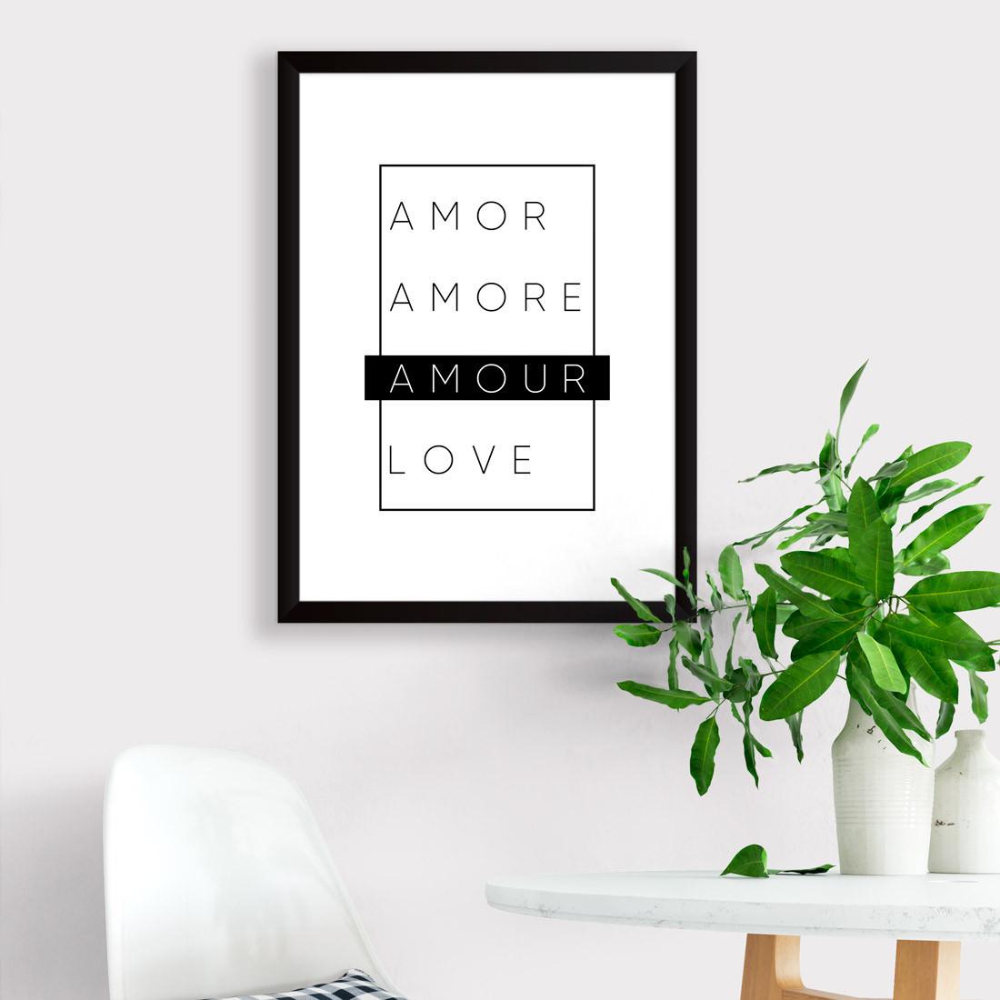 Quadro Decorativo Minimalista Amour