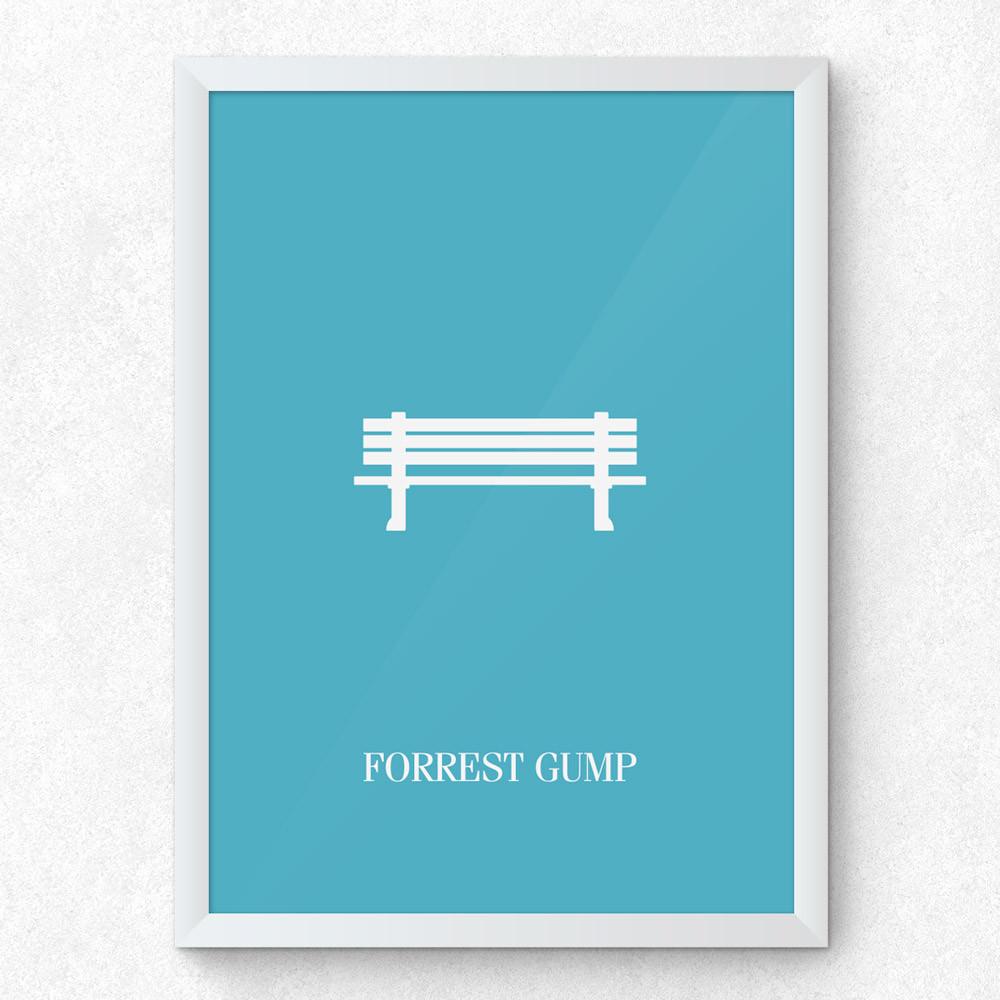 Quadro Decorativo Minimalista Forrest Gump