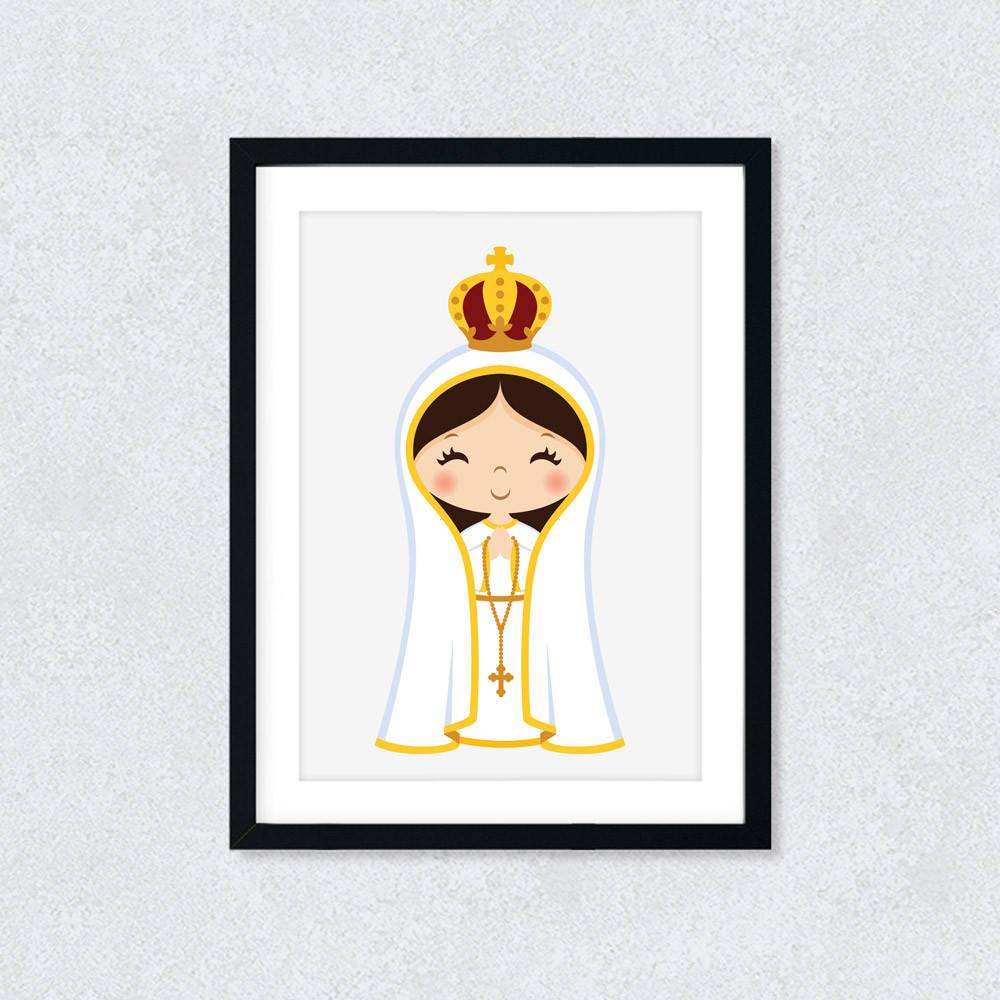 Quadro Decorativo Nossa Senhora de Fátima