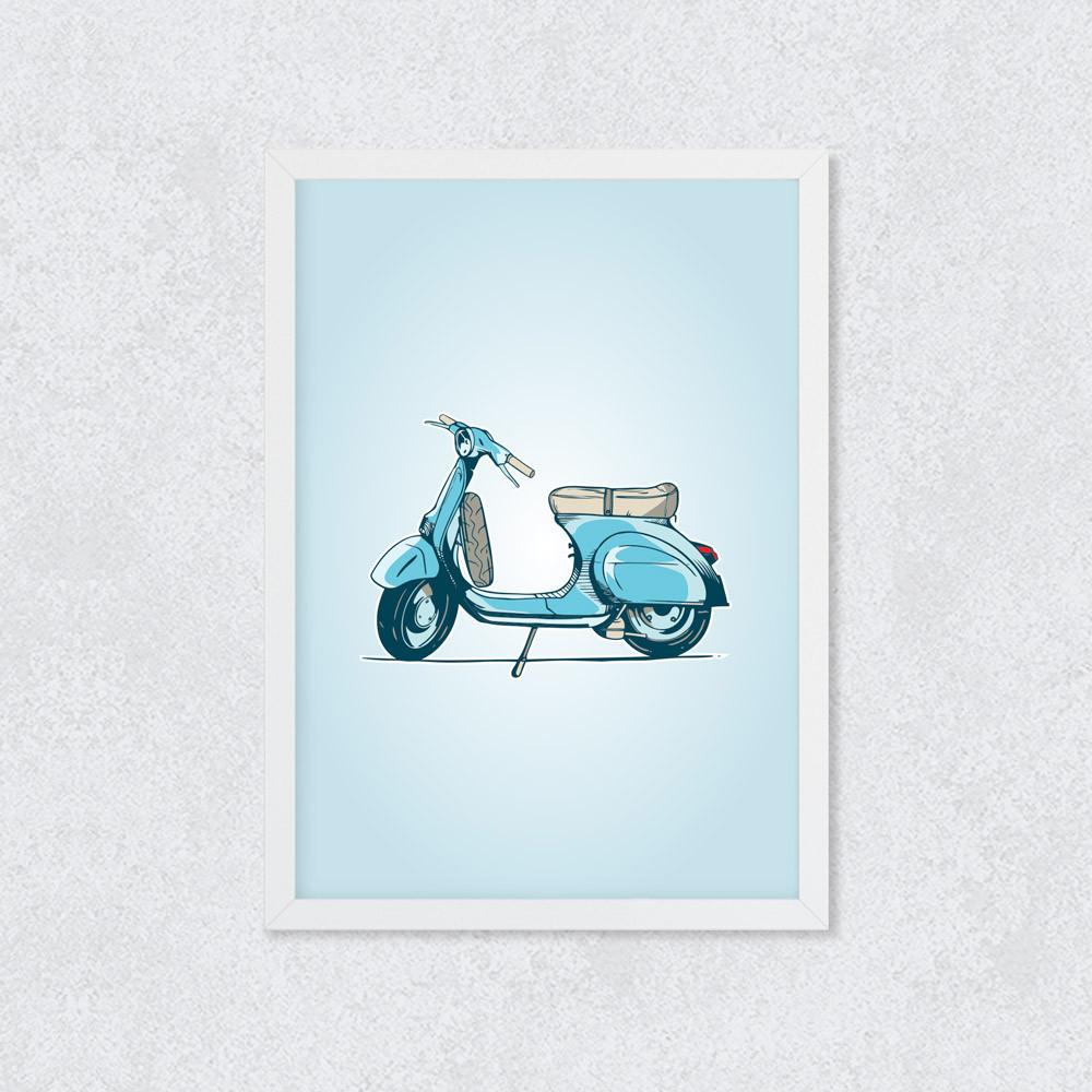 Quadro Decorativo Scooter