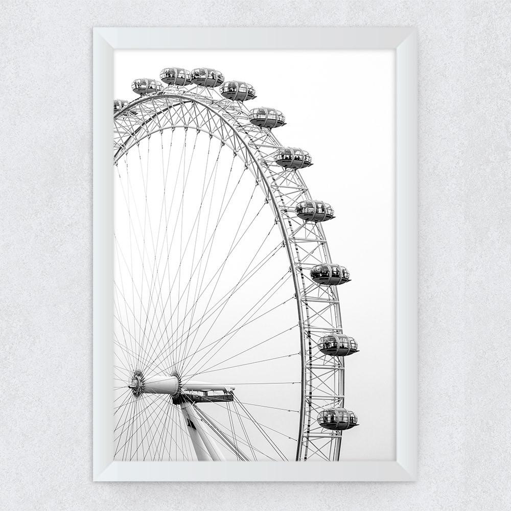 Quadro Decorativo Olho de Londres (Fotografia)